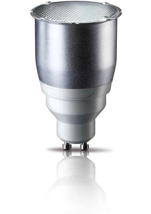 Tecnología de bajo consumo de energía en una lámpara direccional