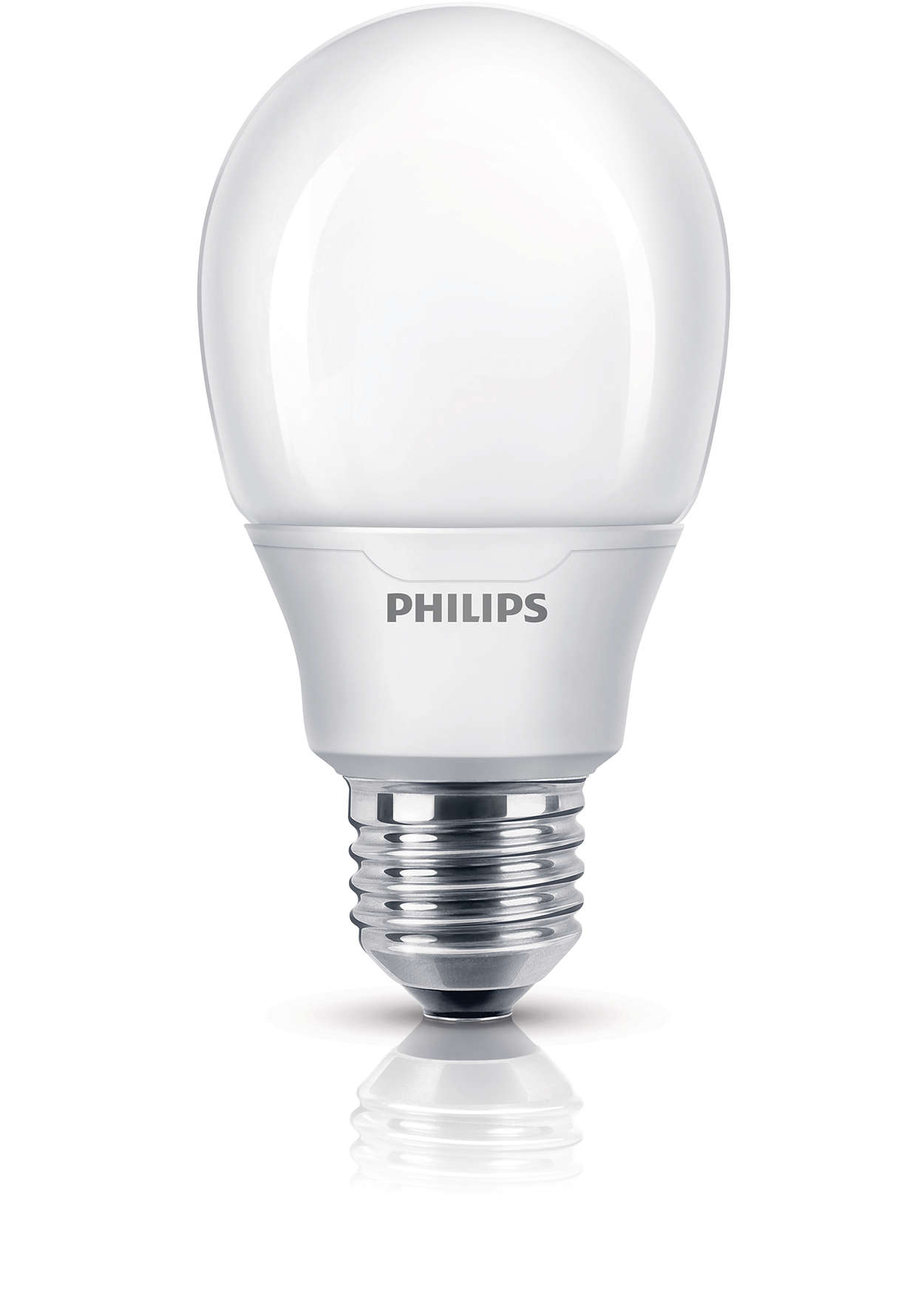 Bombilla de bajo consumo con luz y diseño básicos