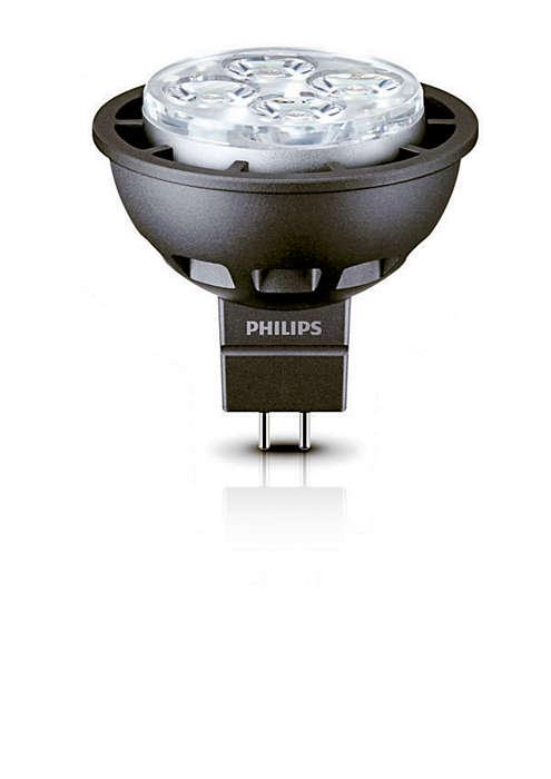 Luz decorativa LED duradera con haz enfocado