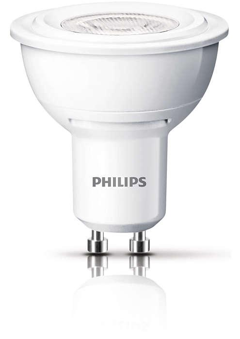 Lumină durabilă de accentuare cu un fascicul luminos concentrat