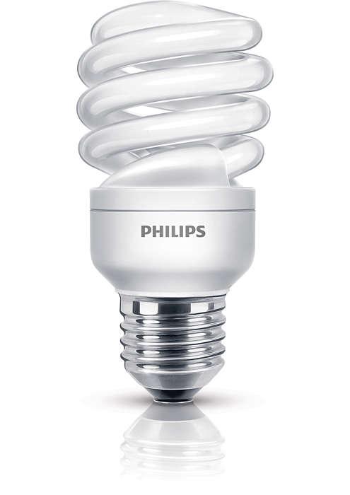 Energibesparende enkelt lys i en kompakt design