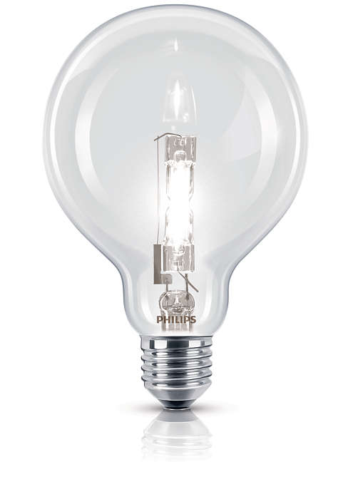 Ragyogó halogén fényforrás ismerős formába öntve