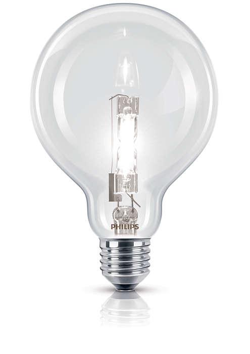 Lumină strălucitoare cu halogen într-un design familiar