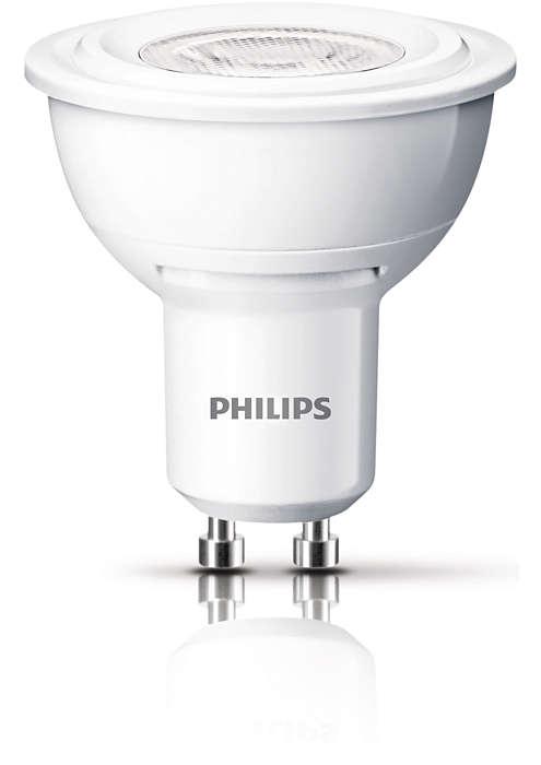 Hållbar punktbelysning med en riktad, klar ljusstråle