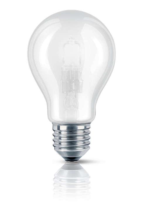 Luz halógena brillante en forma de globo