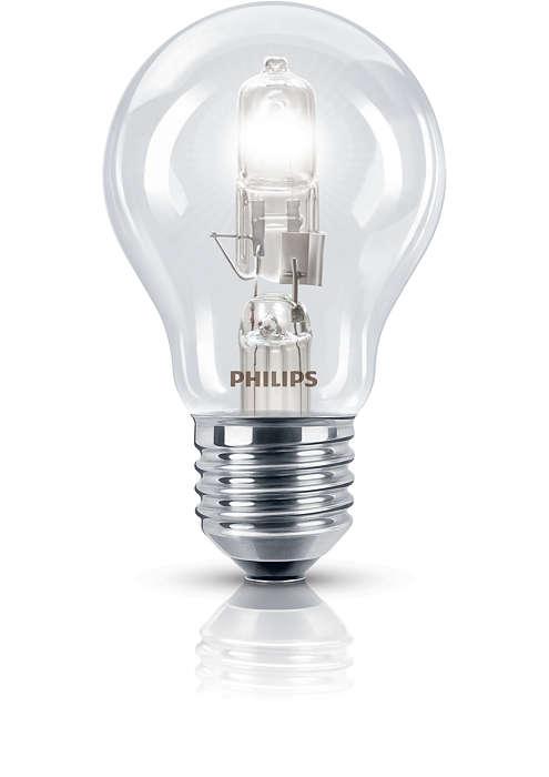 Žėrinti, halogeninė, tradicinės formos lemputė