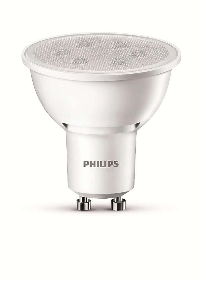 Iluminación de acento LED duradera con haz brillante enfocado