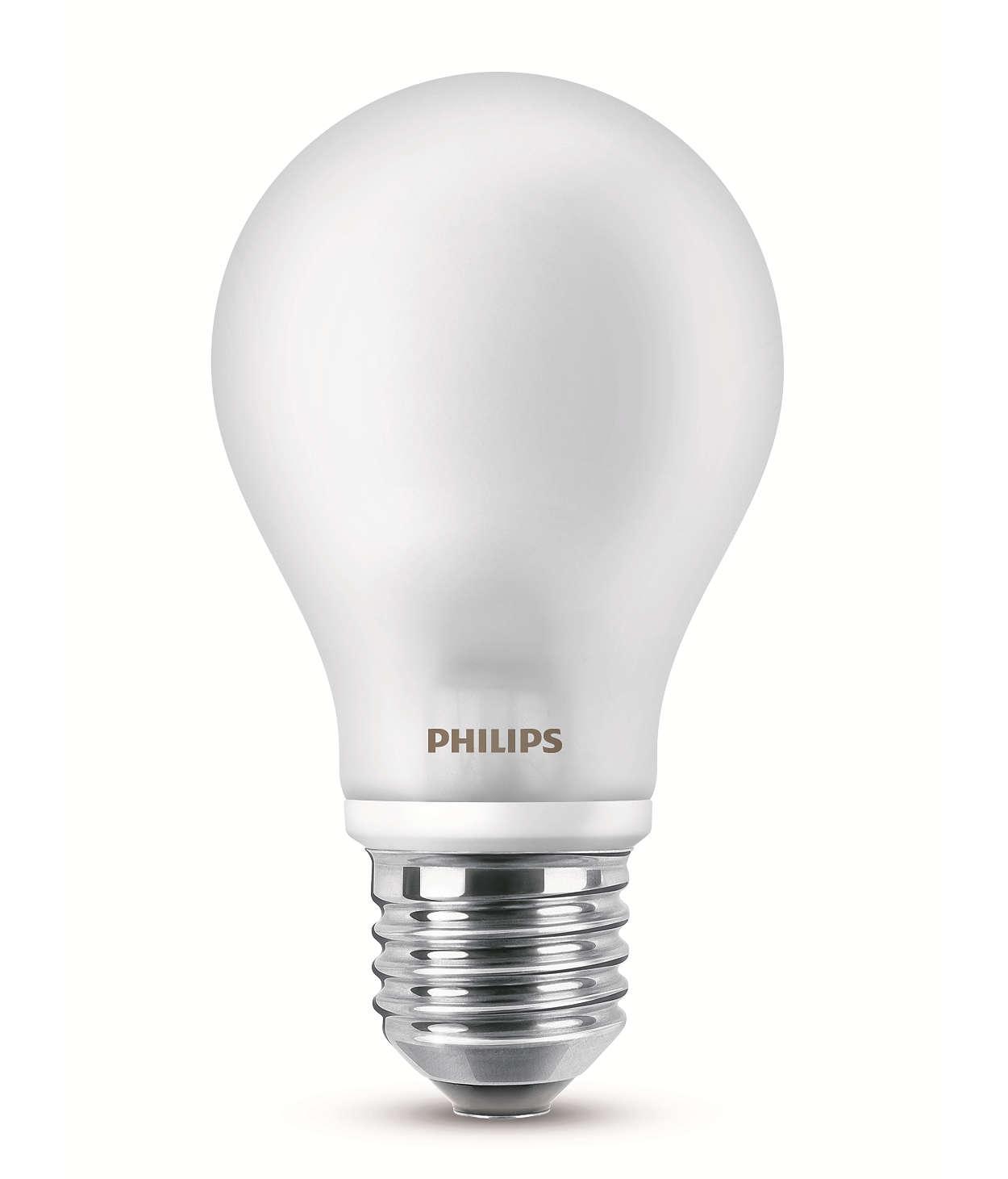 Je to klasická žárovka a je to LED