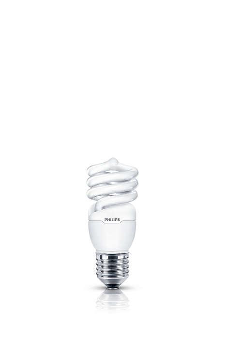 Luz branda e suave em uma lâmpada econômica