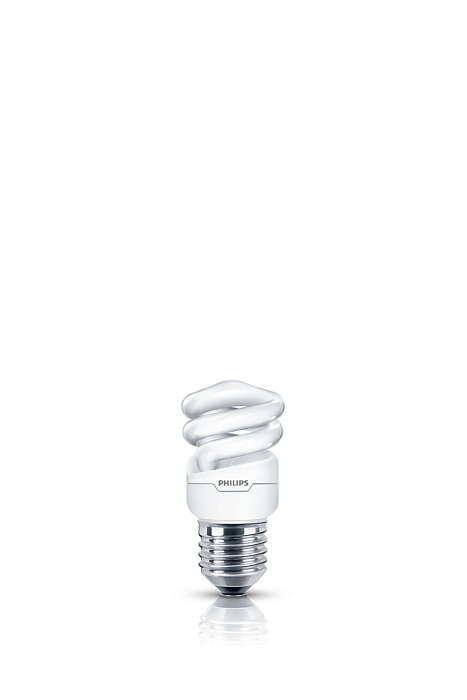 Luz suave y agradable en una bombilla de bajo consumo