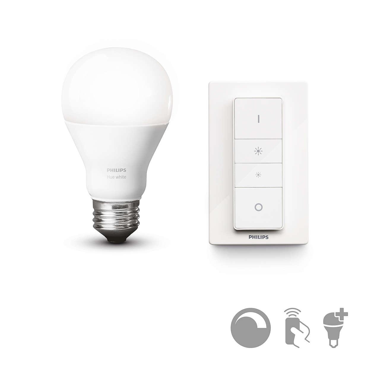 Regulação de intensidade da luz sem fios