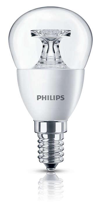 Прозрачная каплевидная светодиодная лампа, приятный сияющий свет