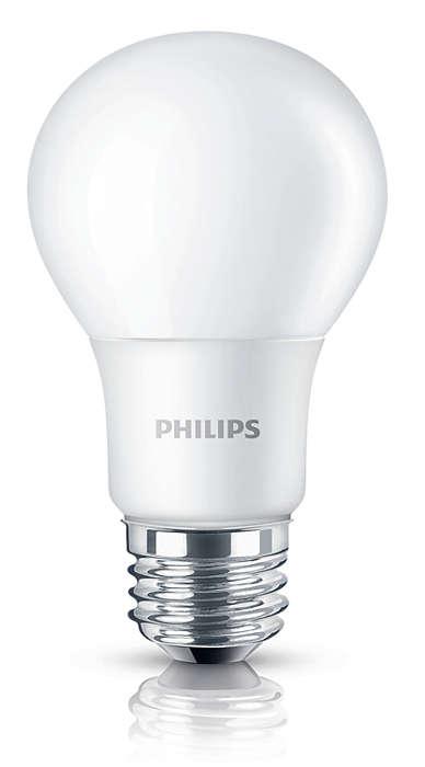 Насладитесь теплым белым светом светодиодной лампы