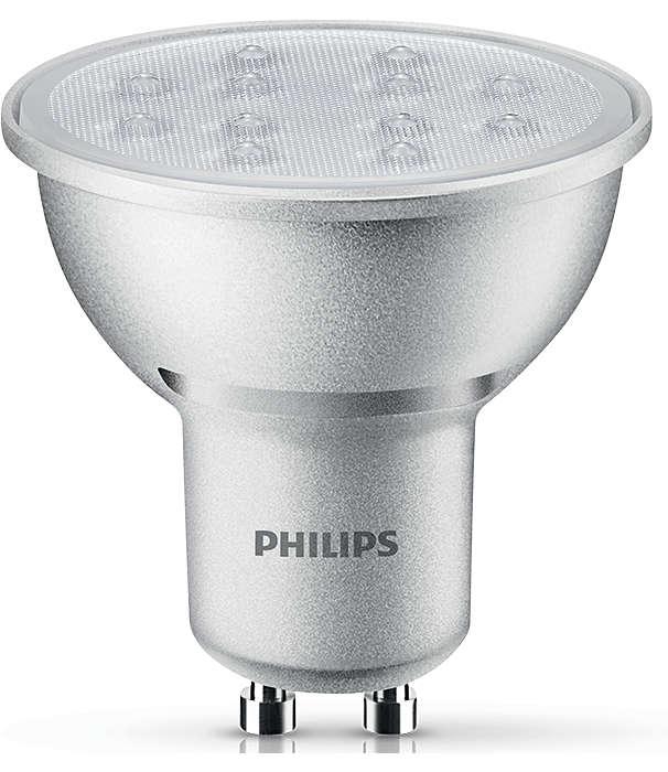 Disfruta de una luz LED blanca fría y regulable