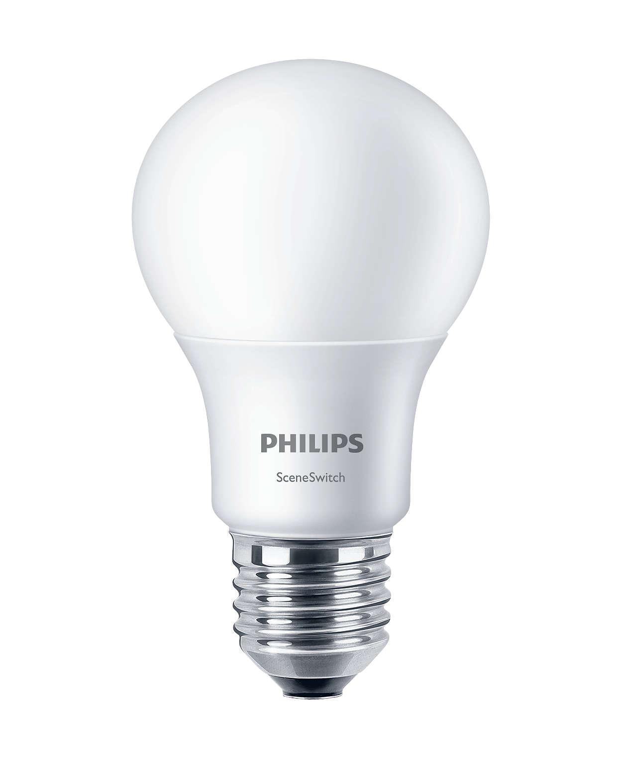 Cambia le impostazioni della luce senza sostituire le lampadine