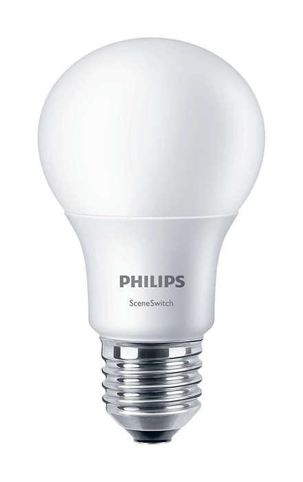 Keiskite apšvietimo nustatymus neperjungdami lempučių