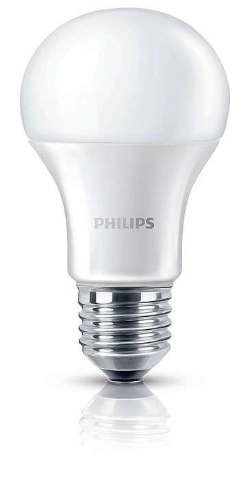 Luz branca brilhante, sem comprometer a qualidade da luz