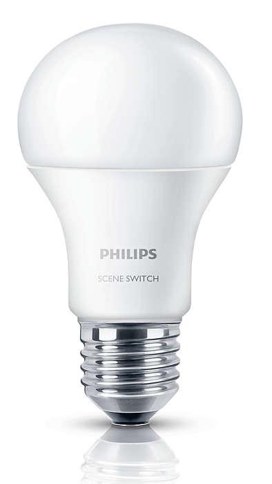 一個燈泡三種燈光設置