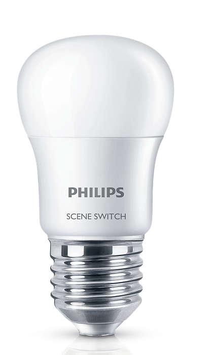 Một bóng đèn hai màu ánh sáng
