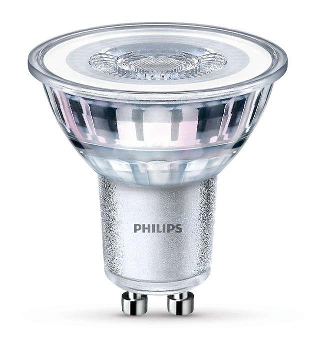 Iluminação de realce LED duradoura com um feixe brilhante