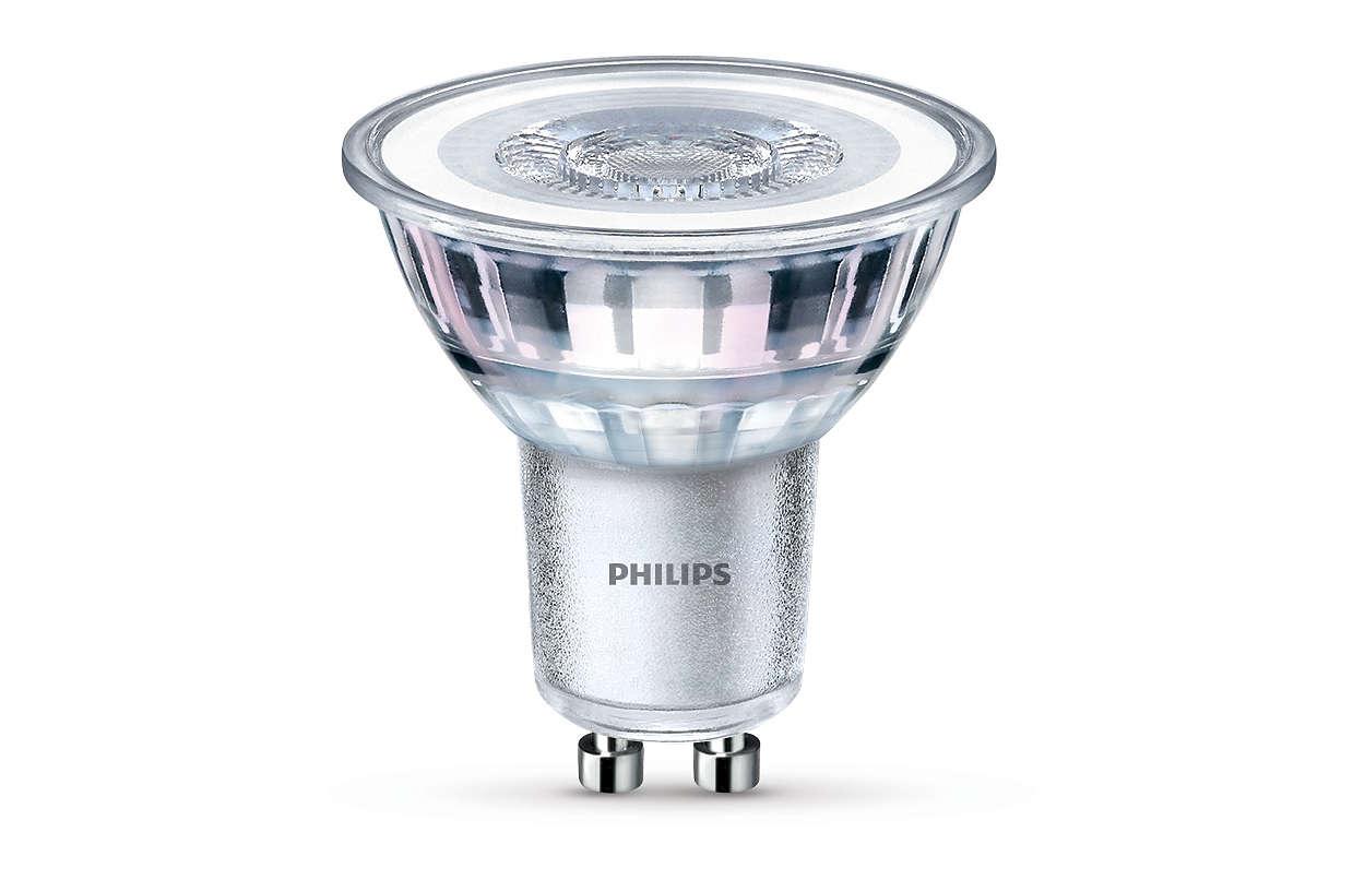 Hållbar LED-punktbelysning med en riktad ljusstråle