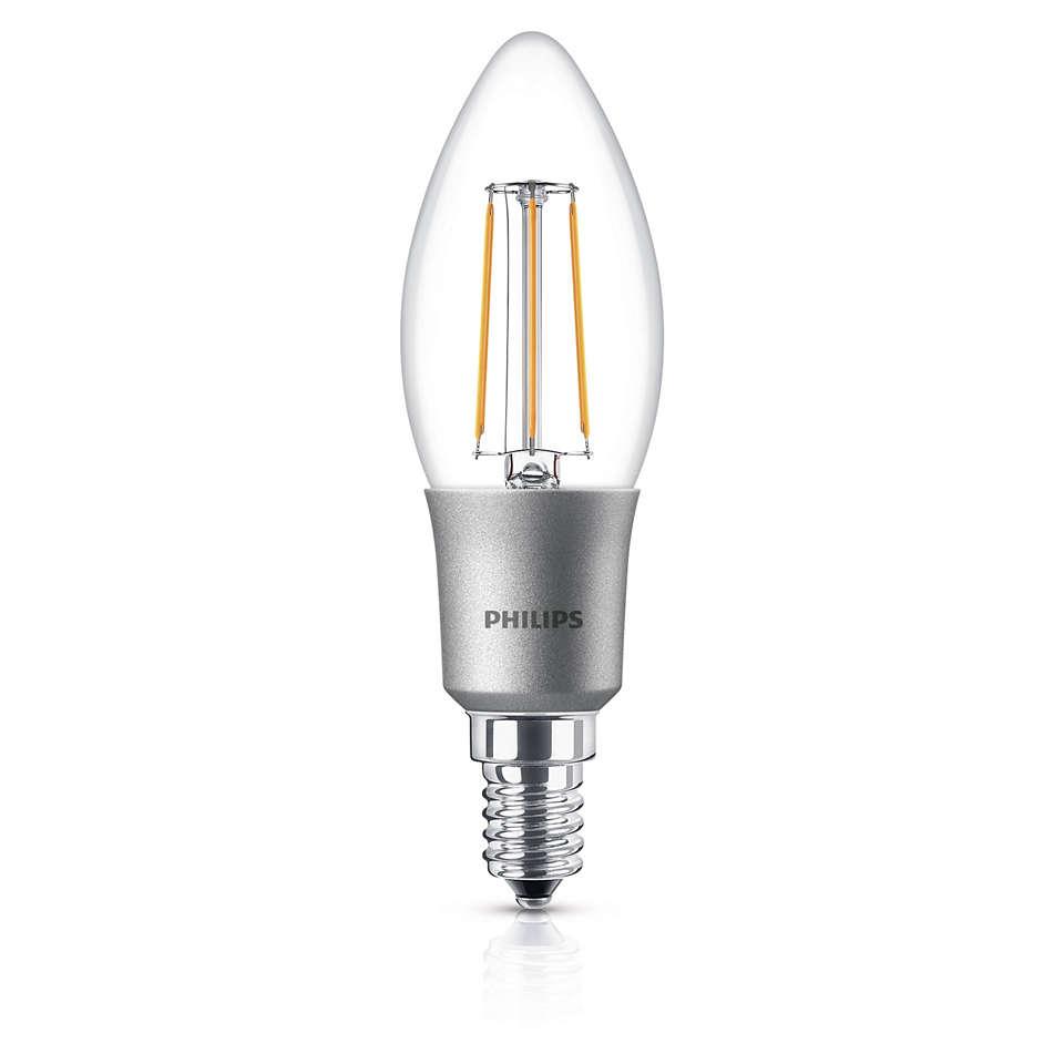 LED Диммируемая свечевидная лампа