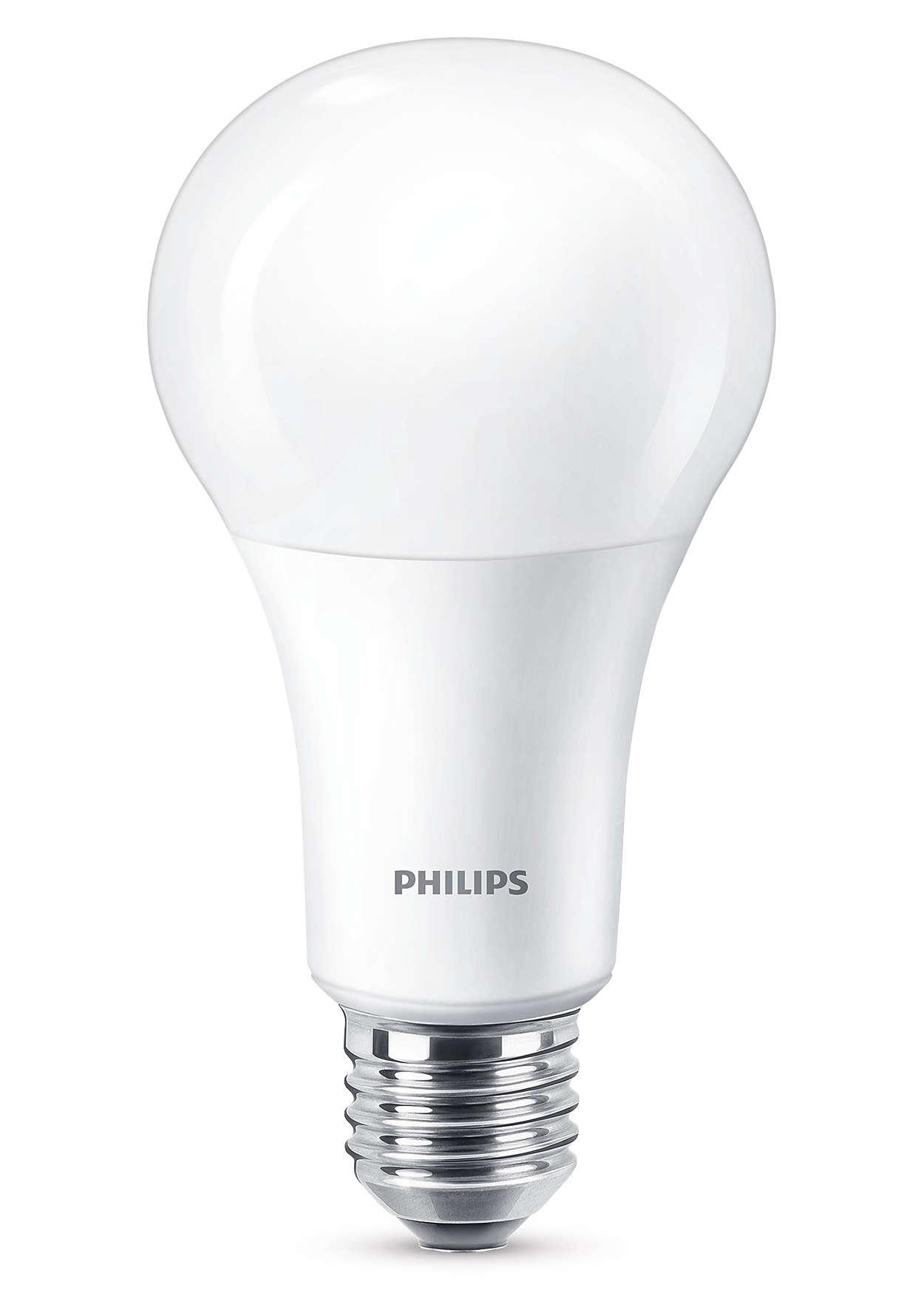 Απολαύστε ζεστό, λευκό φωτισμό LED με ροοστάτη