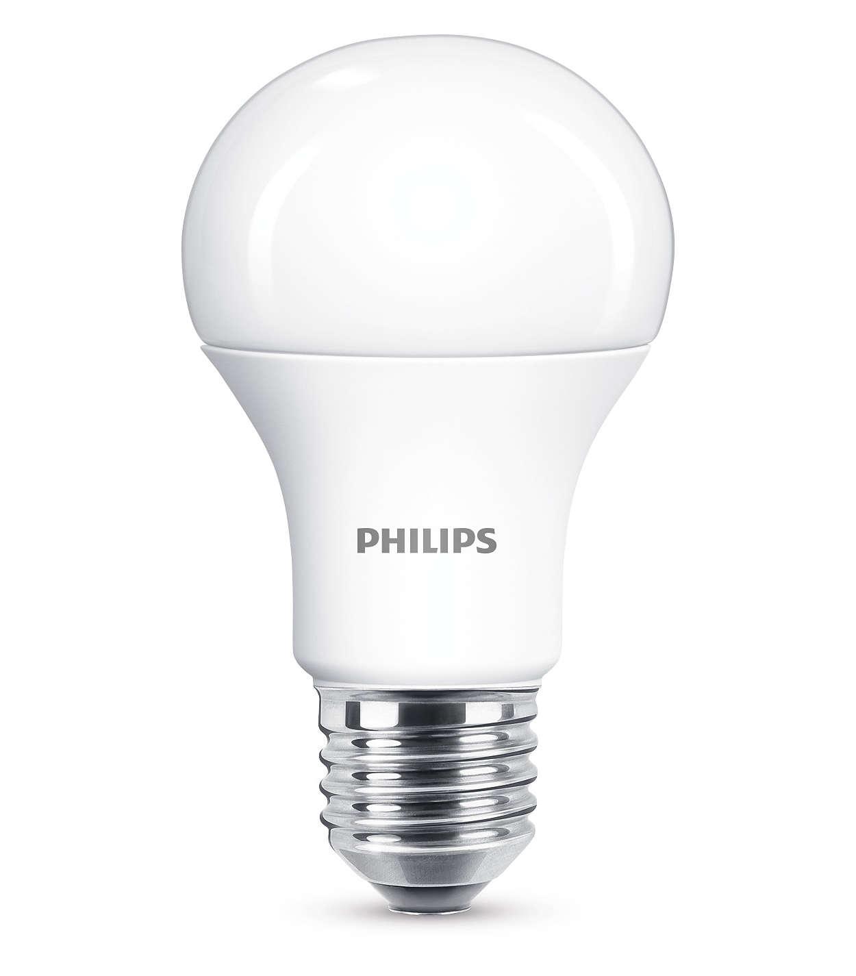 Насладитесь теплым белым светом диммируемой светодиодной лампы