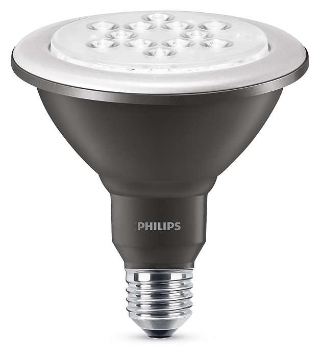 Duurzame LED-lamp met een gerichte, heldere lichtbundel