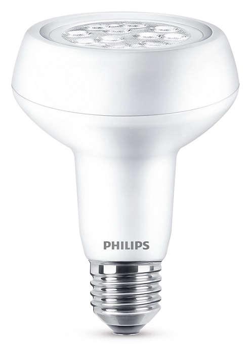 Hållbar LED-lampa med riktad ljusstråle