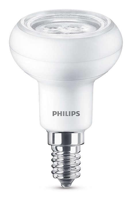 Langtidsholdbar LED med en fokusert og sterk lysstråle