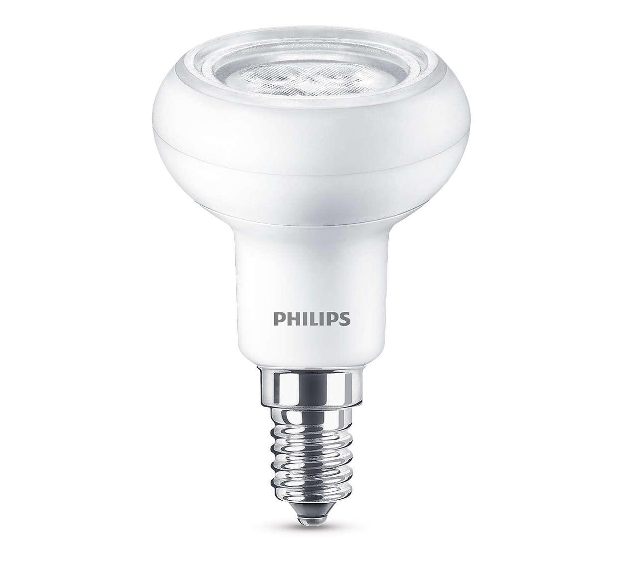 Luz LED duradoura com um feixe brilhante direccionado