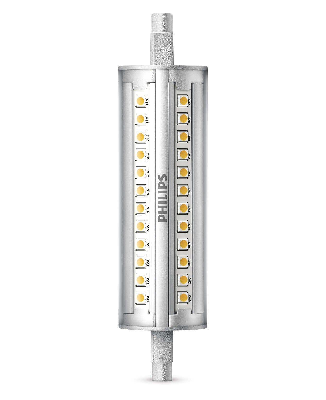 Lineær LED som kan dimmes, med en stråle på 300grader