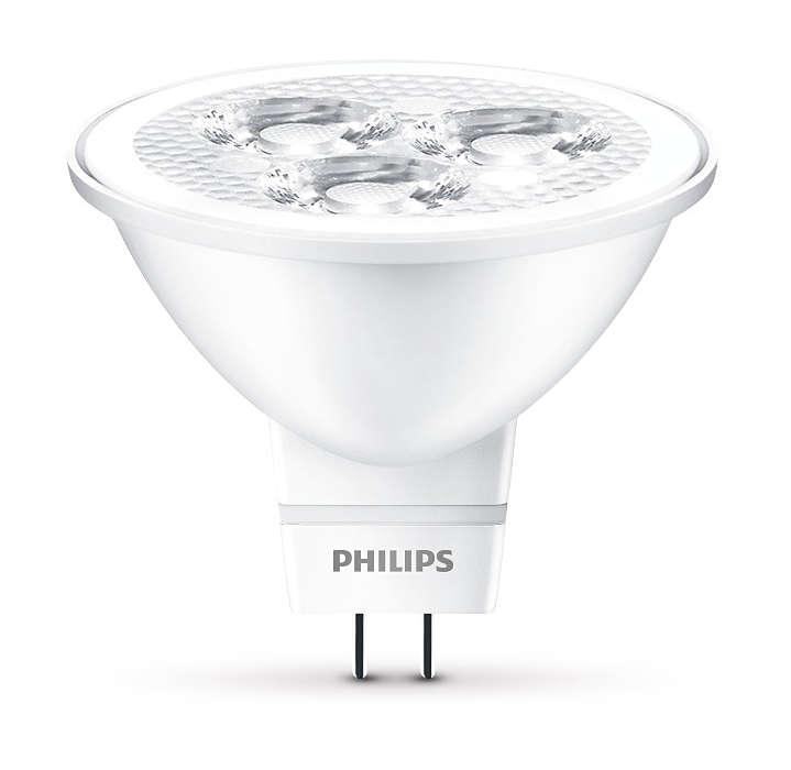 Odolné bodové osvětlení LED se zaměřeným paprskem