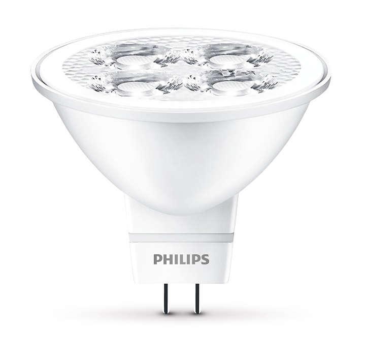 Robust indirekte LED-belysning med en fokuseret stråle