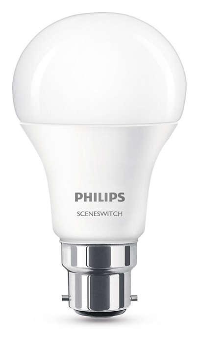 Една лампа, три настройки за осветлението