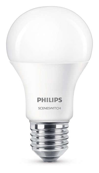 Verander de lichtstand zonder de lampen te veranderen