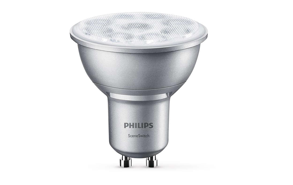 Една спот крушка, три настройки за осветлението
