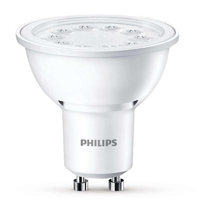 Hållbar LED-punktbelysning med riktad ljusstråle