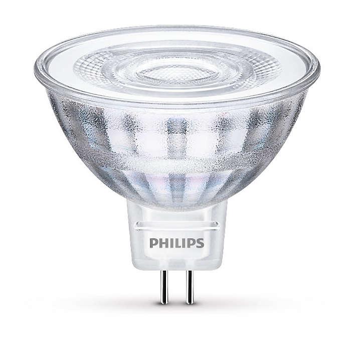 Hållbar LED-punktbelysning med riktat ljusstråle