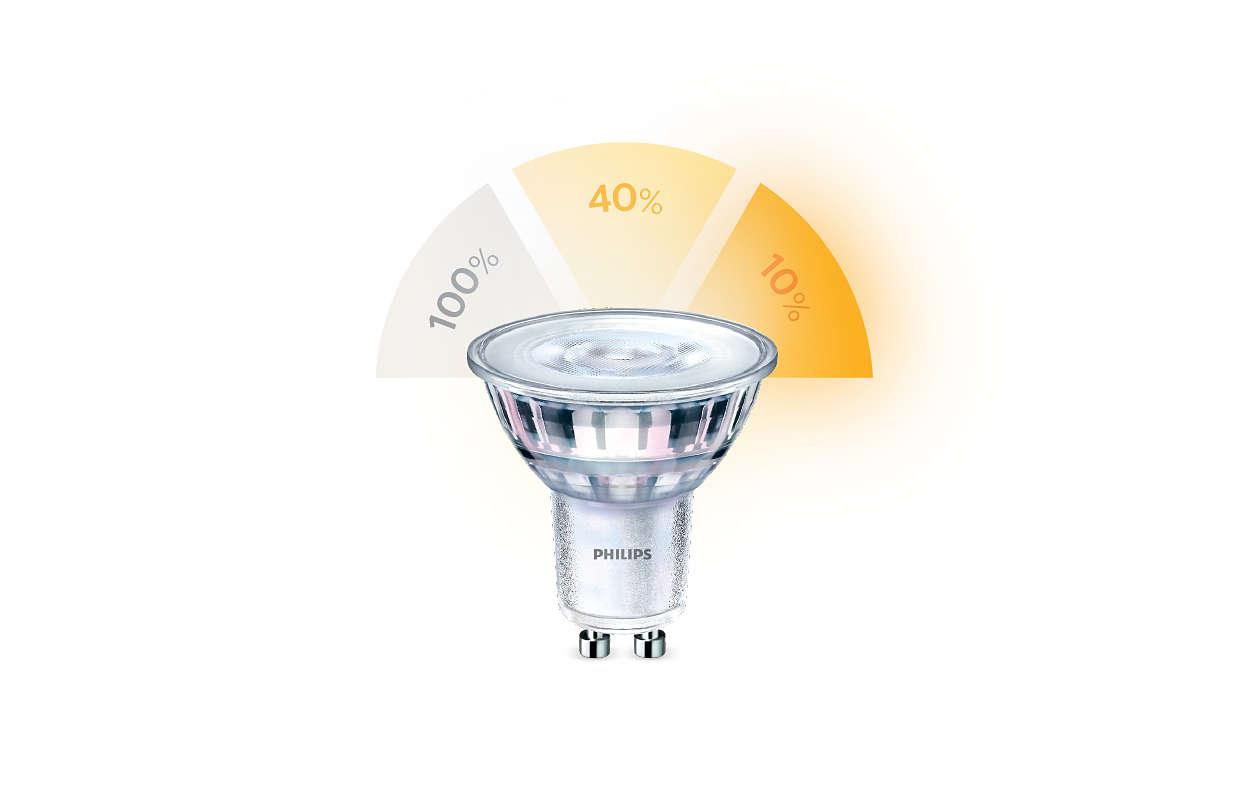 Cambio de los ajustes de iluminación sin cambiar bombillas