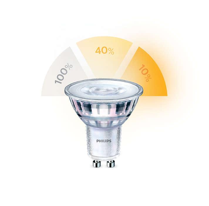 Vaihda valoasetusta lamppua vaihtamatta