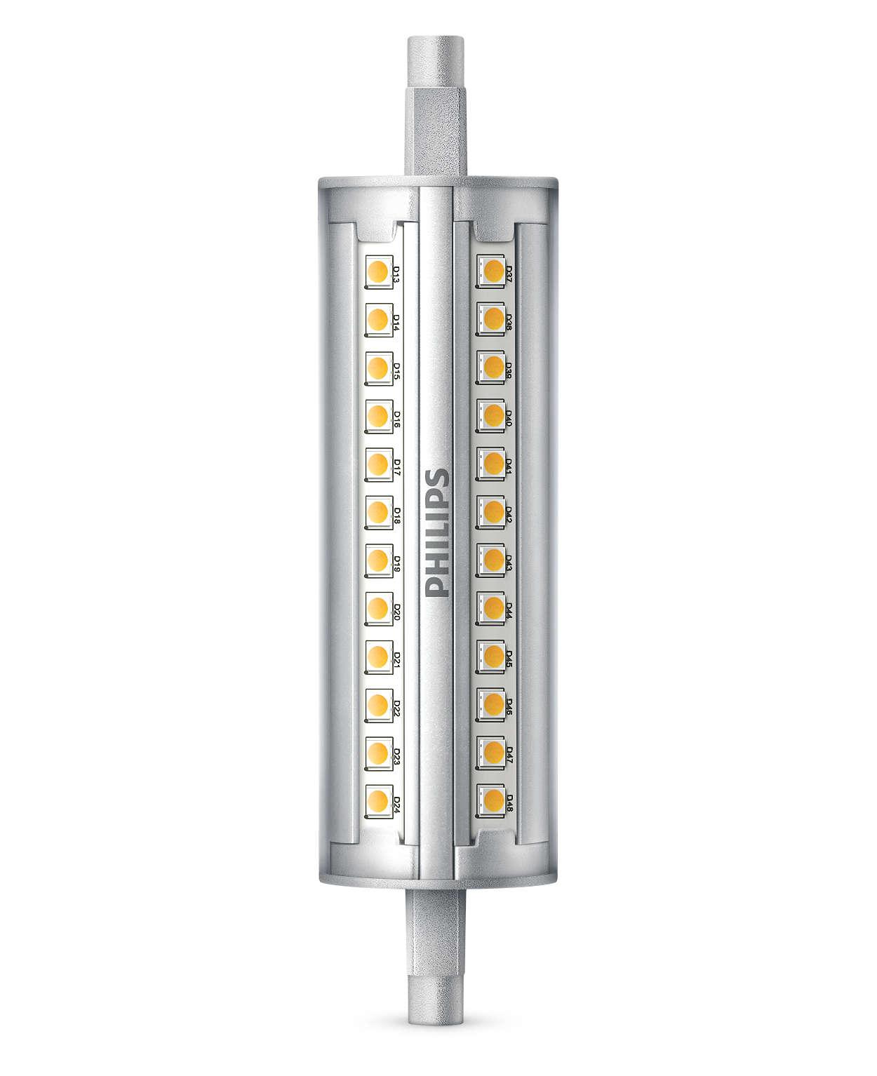 Dimbar Linear LED-lampa med LED med en 300° lätt b