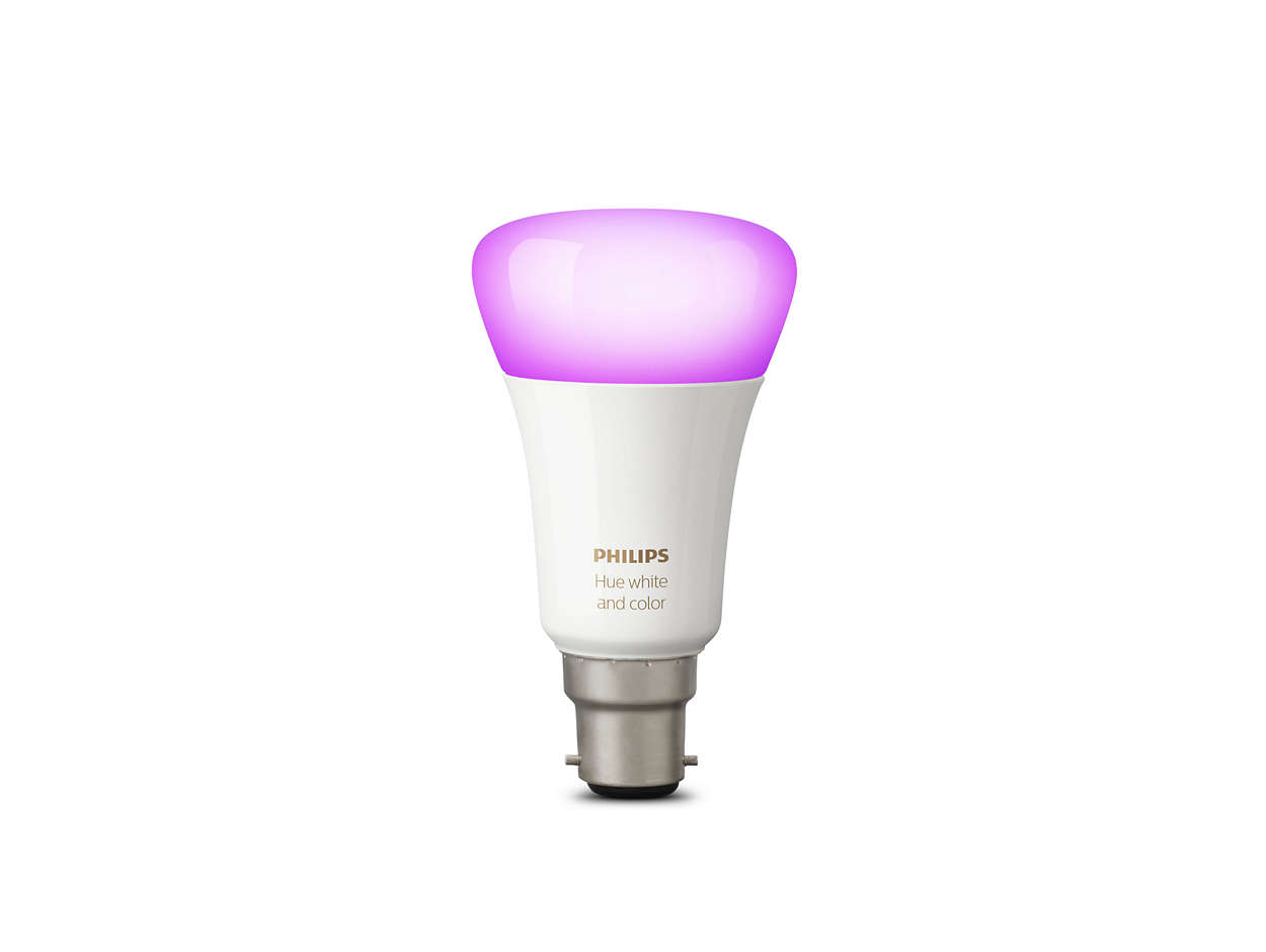 hue white and color ambiance single bulb b22 8718696725689 philips. Black Bedroom Furniture Sets. Home Design Ideas