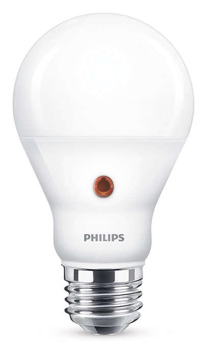 Lampadina a LED sensore giorno e la notte luminoso