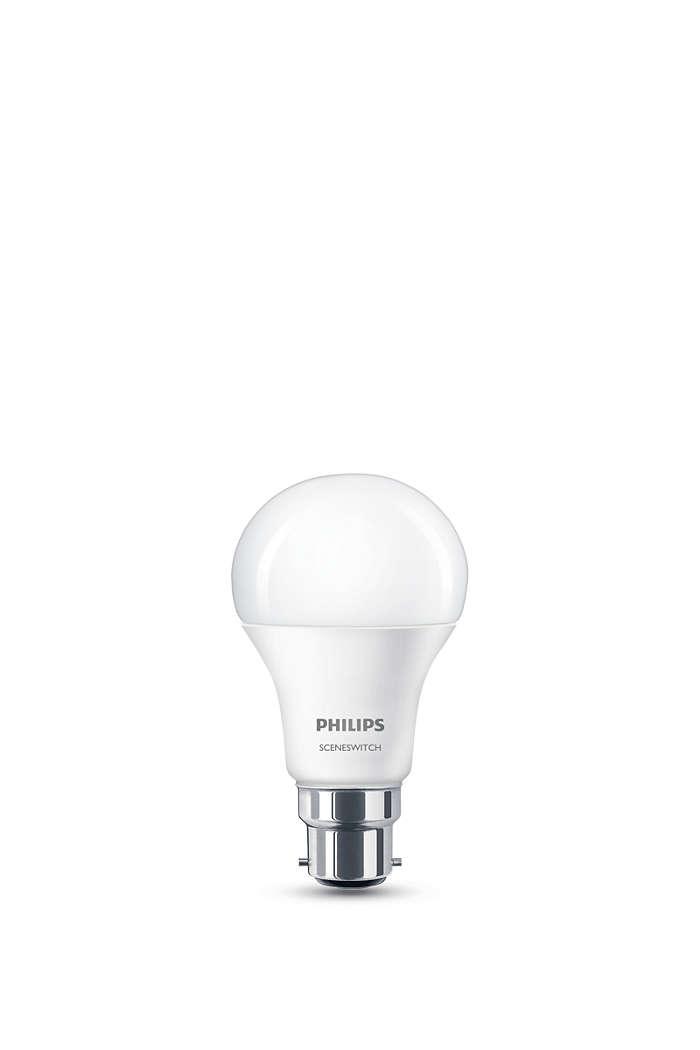 1 つのランプ。スイッチで 3 つの照明設定。