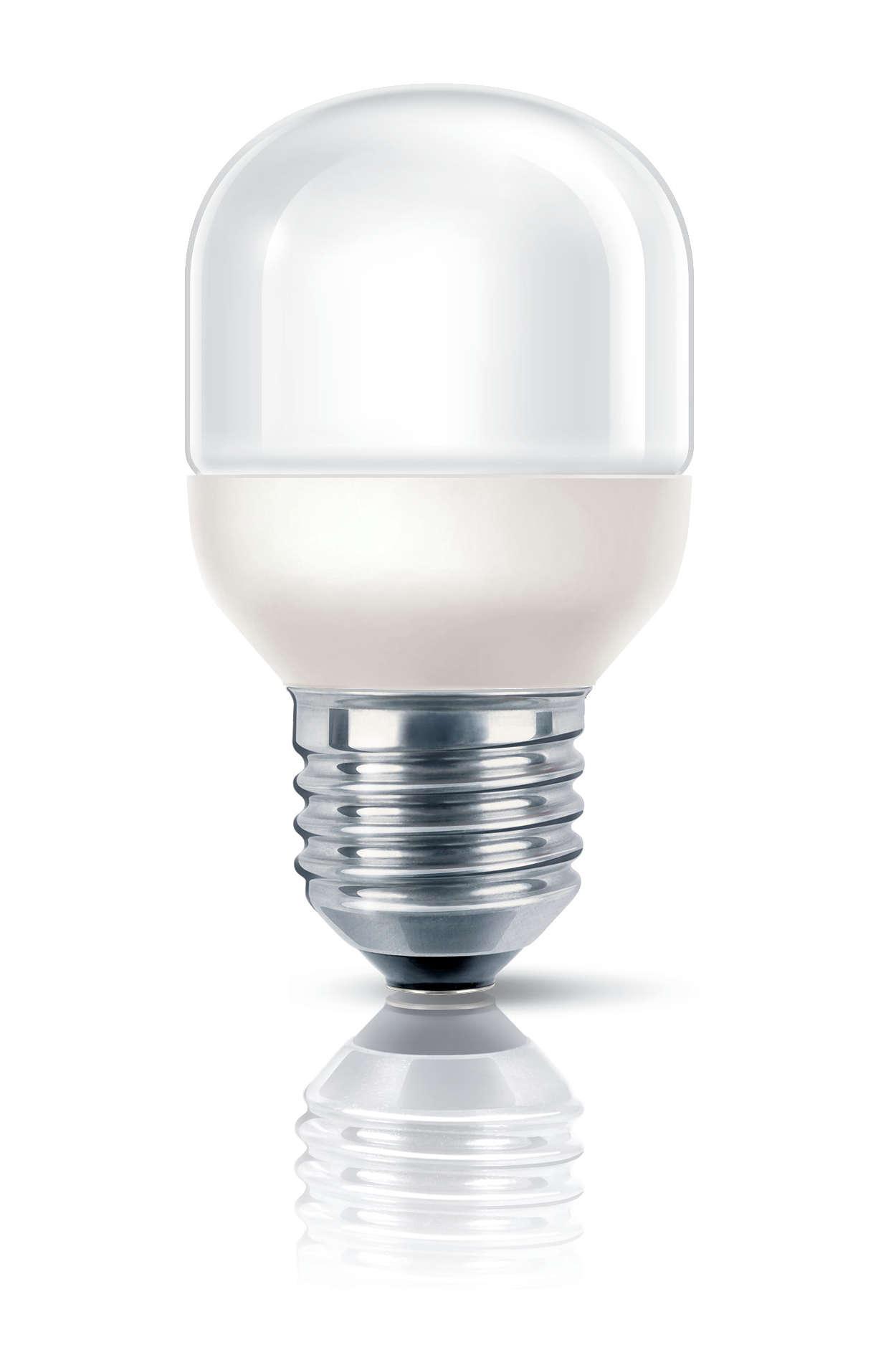 Spaarlamp met zacht en gloedvol licht