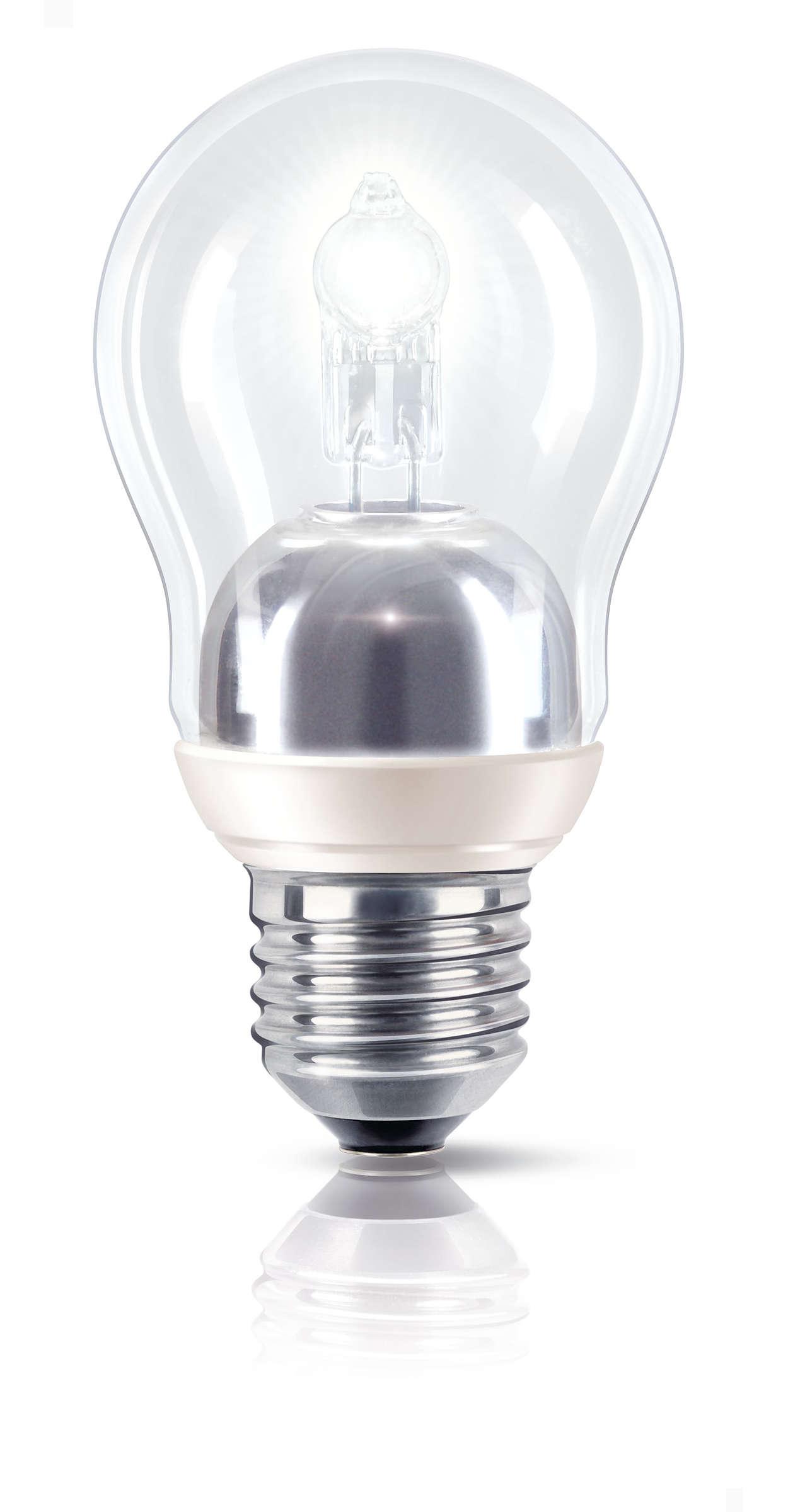 Gnistrande ljus till hälften så mycket energi