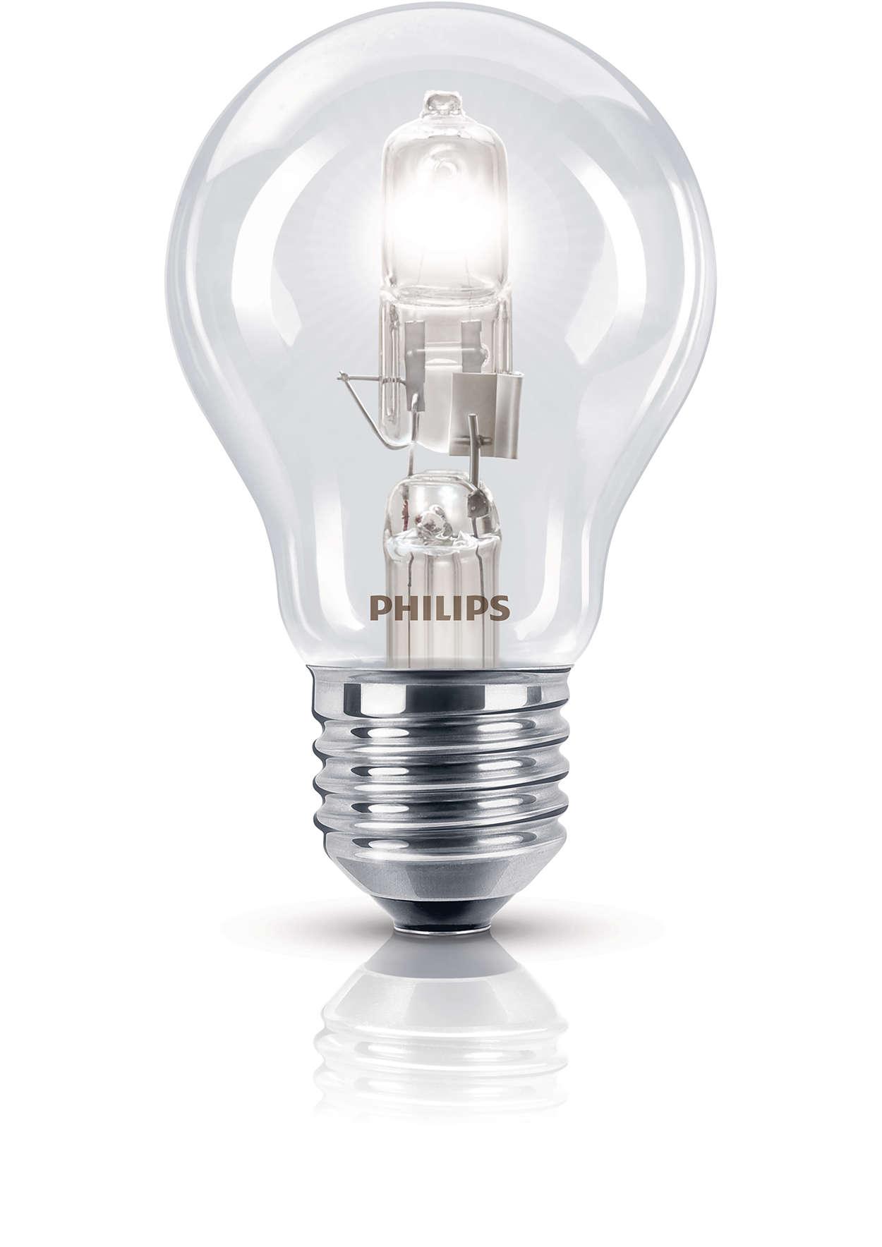 Сияющий свет галогенной лампы, выполненной в классической форме