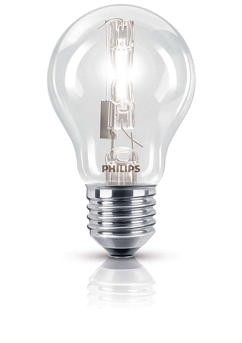 Sparkling halogen light in a familiar shape